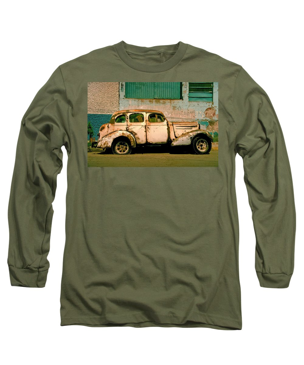 Skip Long Sleeve T-Shirt featuring the photograph Jalopy by Skip Hunt