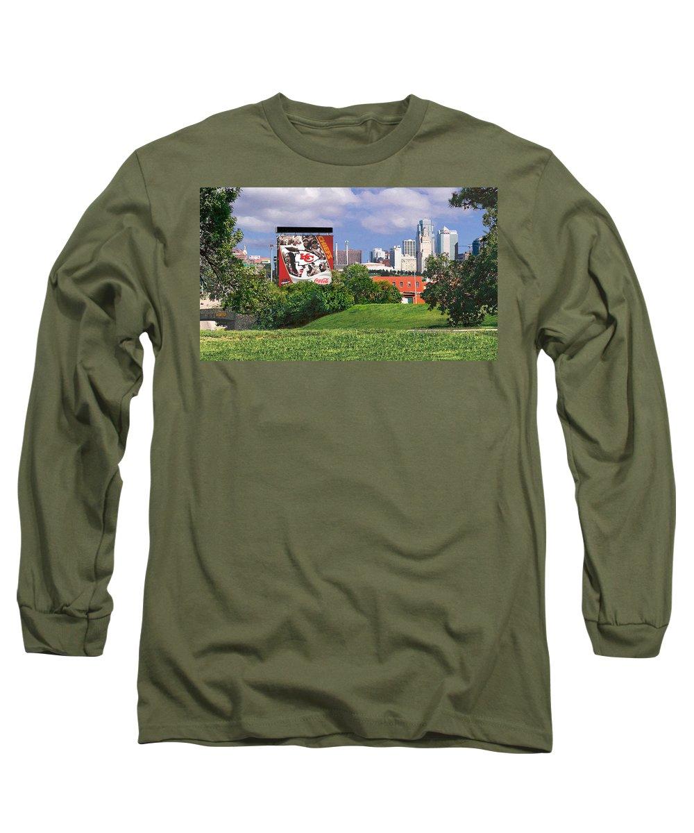 Landscape Long Sleeve T-Shirt featuring the photograph Kansas City Sky Line by Steve Karol