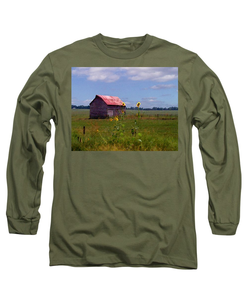 Landscape Long Sleeve T-Shirt featuring the photograph Kansas Landscape by Steve Karol