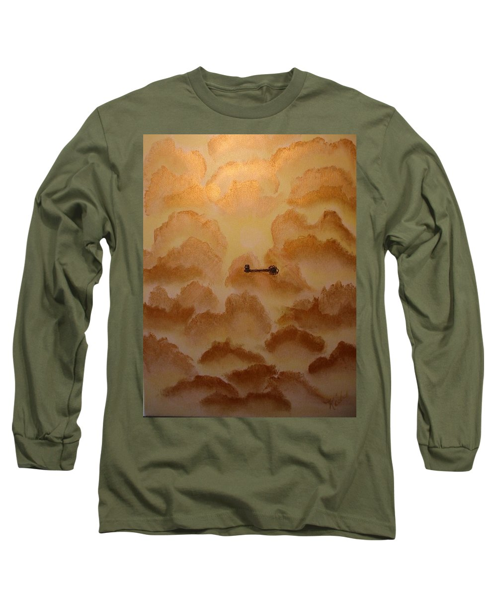 Gold Long Sleeve T-Shirt featuring the painting Keys To The Kingdom by Laurie Kidd