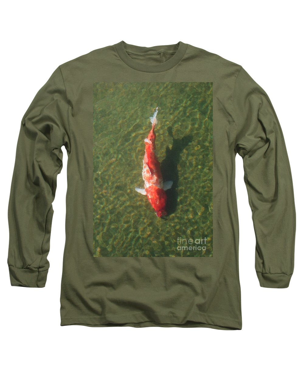 Koi Long Sleeve T-Shirt featuring the photograph Koi by Dean Triolo