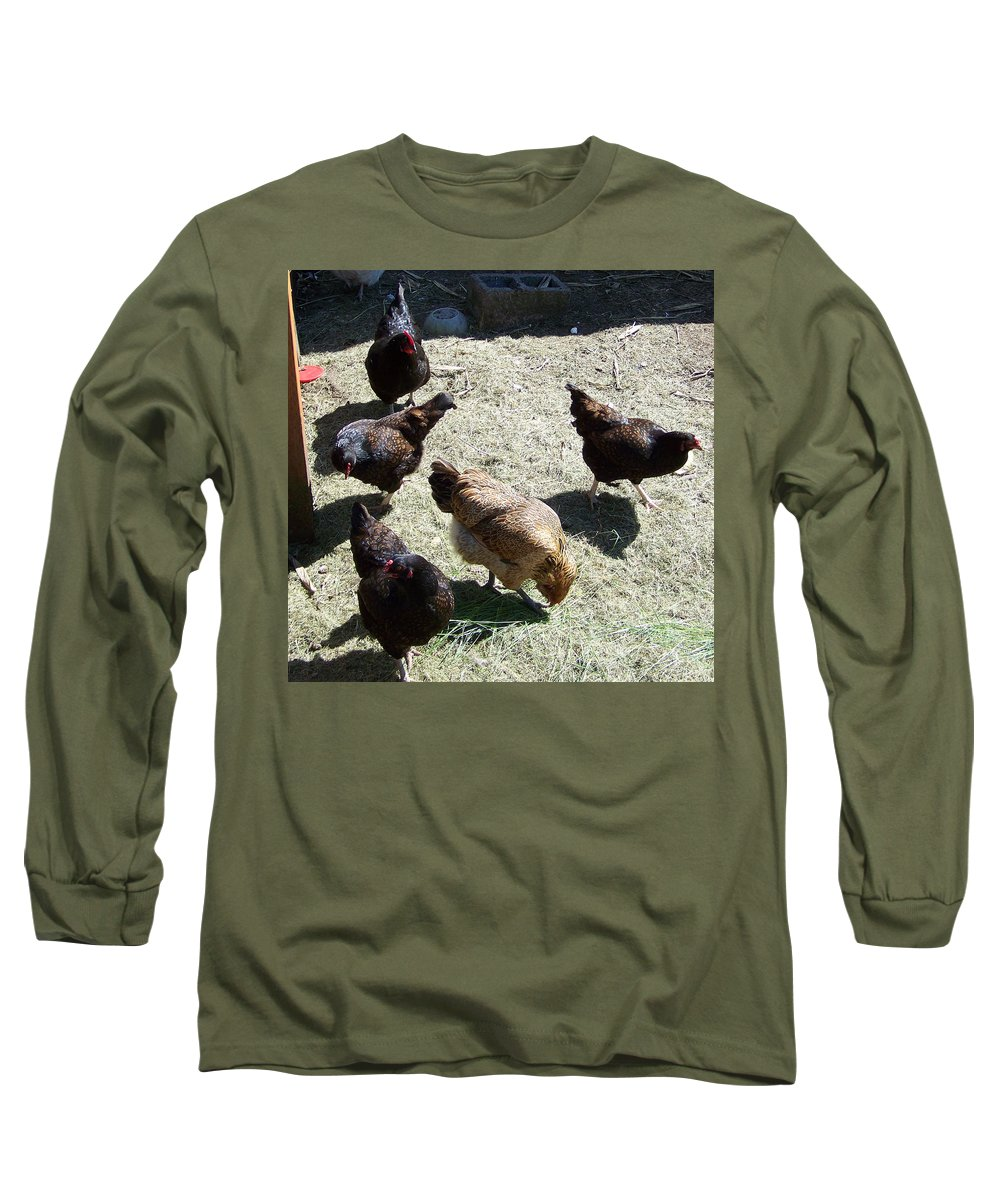 Hens Long Sleeve T-Shirt featuring the photograph Ladies Of The Pen by Laurie Kidd