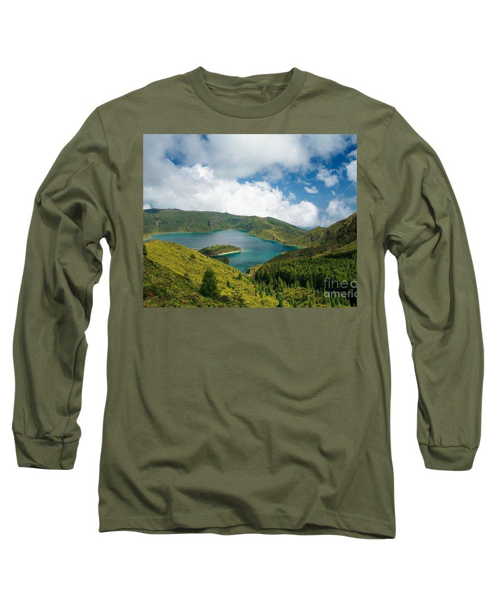 Lagoa Do Fogo Long Sleeve T-Shirt featuring the photograph Lagoa Do Fogo by Gaspar Avila