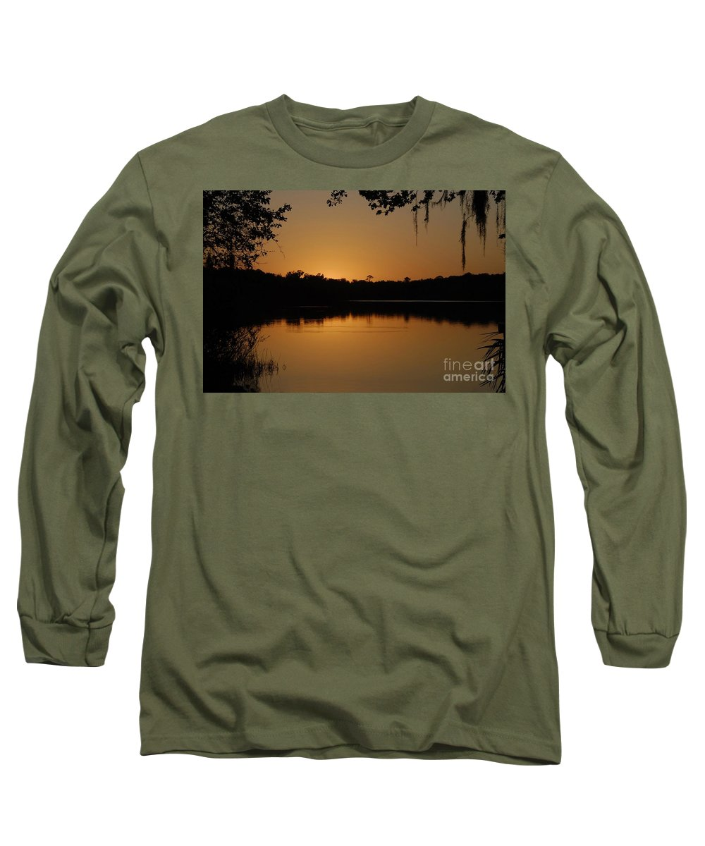 Lake Long Sleeve T-Shirt featuring the photograph Lake Reflections by David Lee Thompson