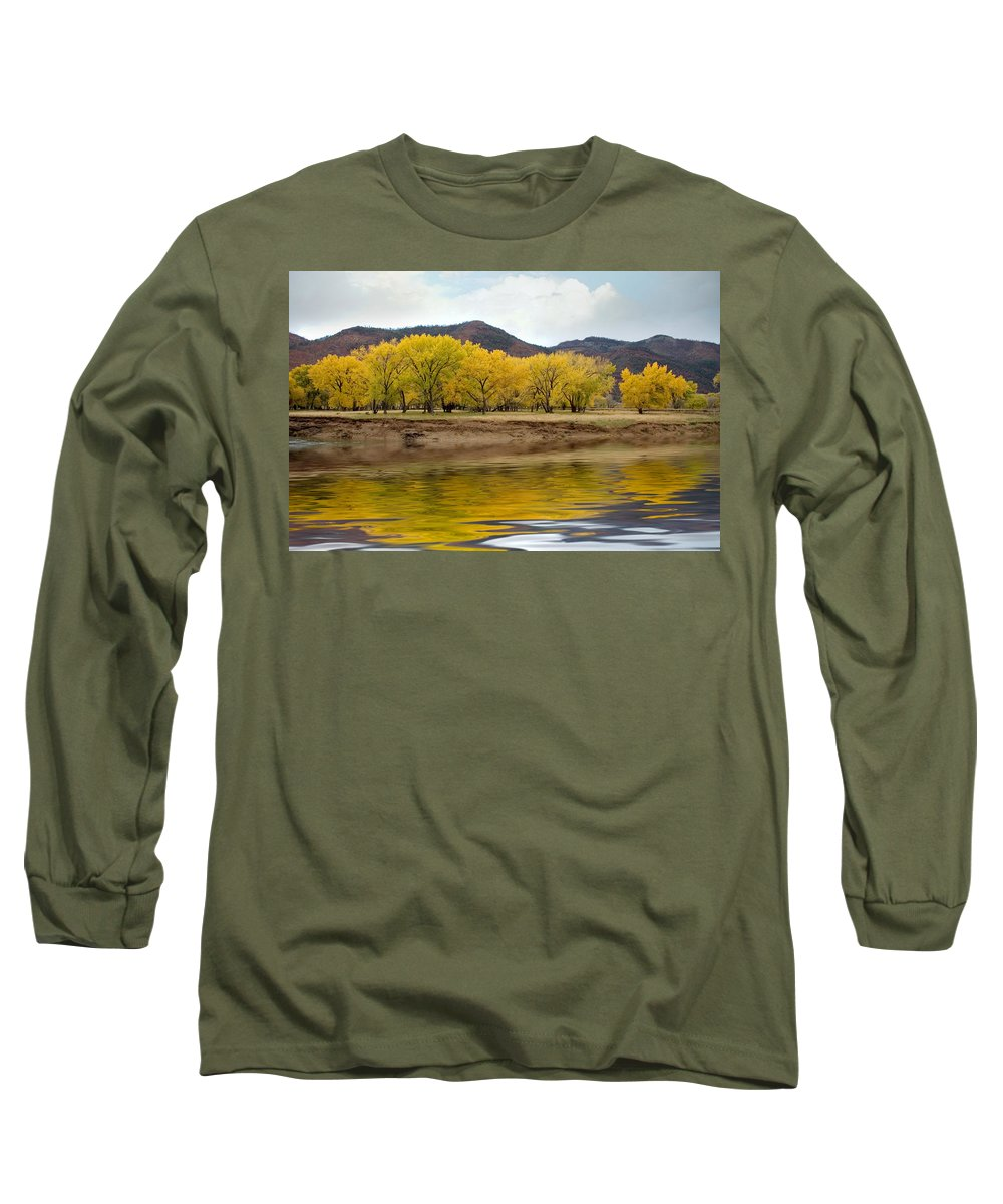 River Long Sleeve T-Shirt featuring the photograph Las Animas Fall by Jerry McElroy