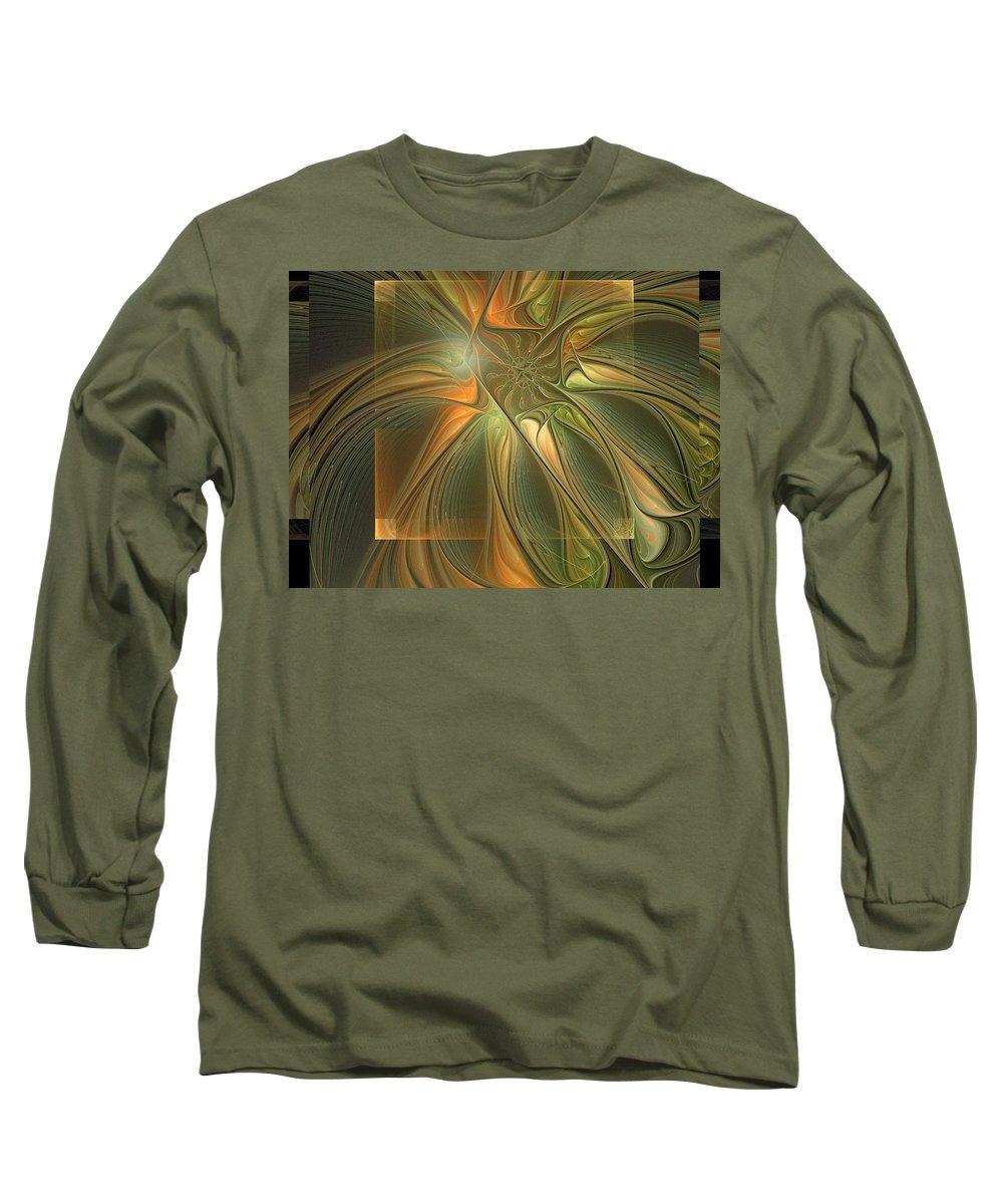 Digital Art Long Sleeve T-Shirt featuring the digital art Layers by Amanda Moore