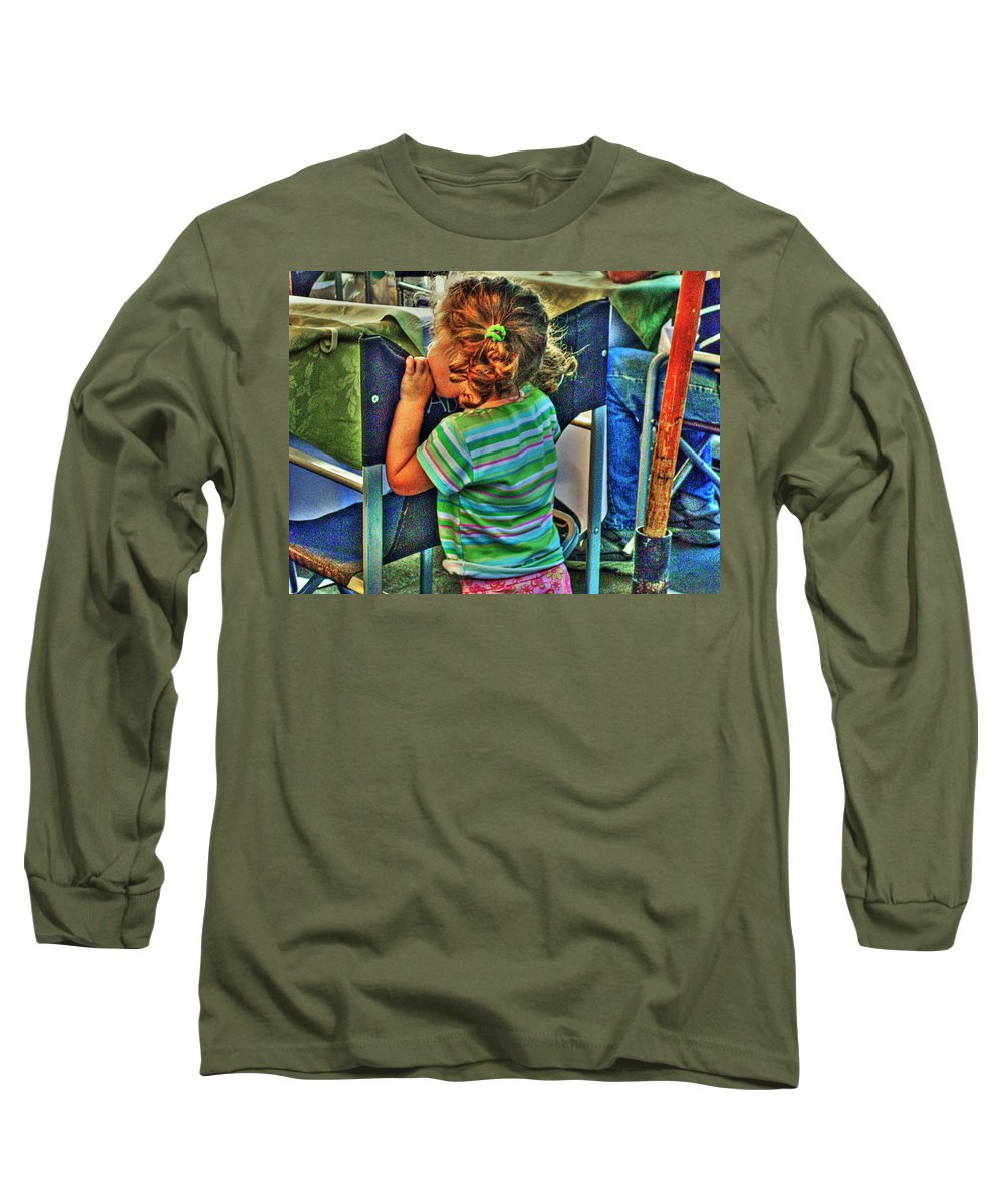 Child Long Sleeve T-Shirt featuring the photograph Learning by Francisco Colon