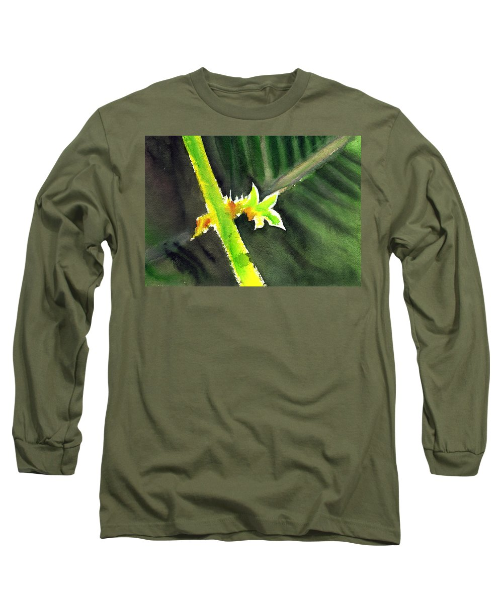 Water Color Long Sleeve T-Shirt featuring the painting Light Branch by Anil Nene