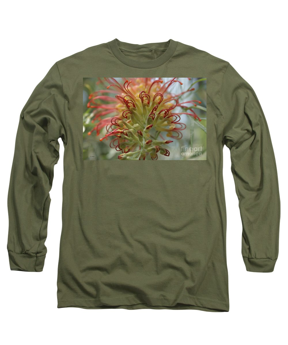 Floral Long Sleeve T-Shirt featuring the photograph Like Stems Of A Cherry by Shelley Jones