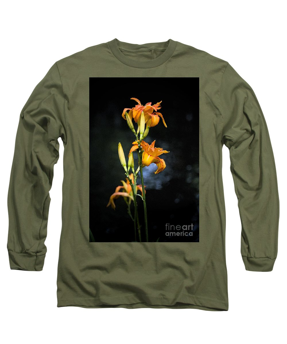 Lily Monet Garden Flora Long Sleeve T-Shirt featuring the photograph Lily In Monets Garden by Sheila Smart Fine Art Photography