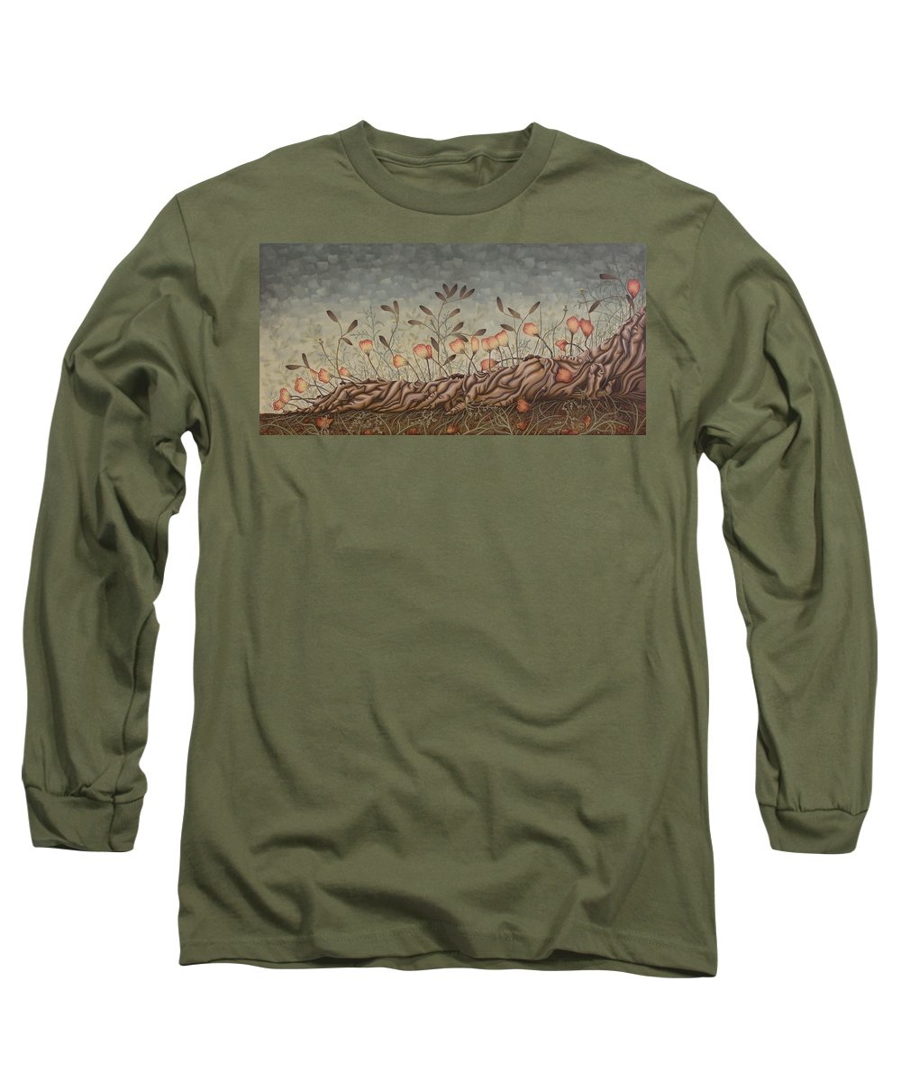 Sex Long Sleeve T-Shirt featuring the painting Little Gods by Judy Henninger