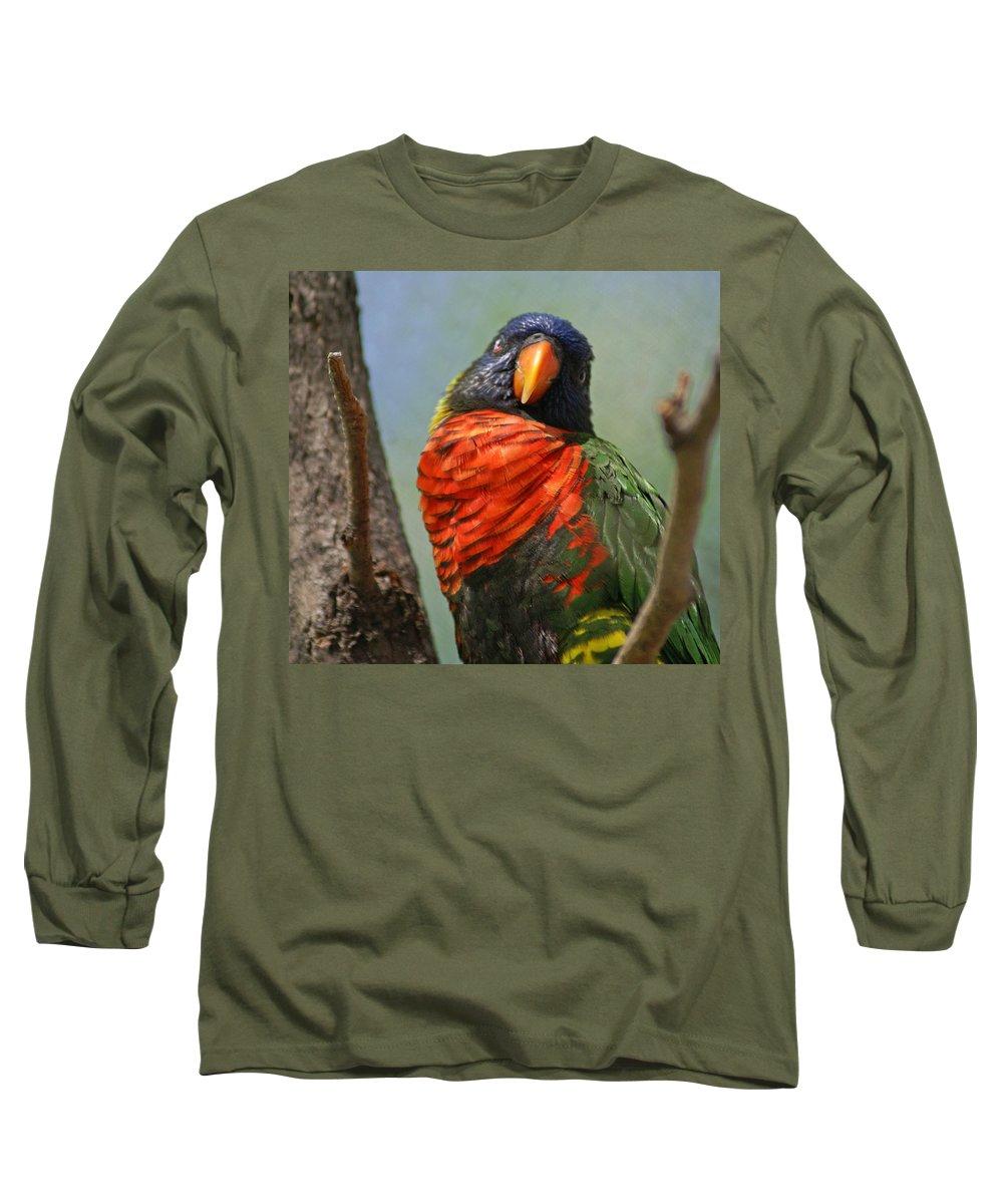 Bird Long Sleeve T-Shirt featuring the photograph Lorikeet by Heather Coen