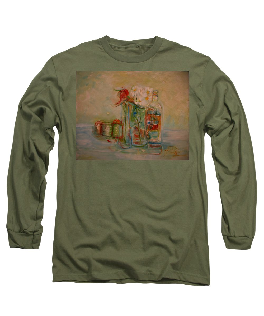 Rose Long Sleeve T-Shirt featuring the painting Lovers Picnic by Jack Diamond
