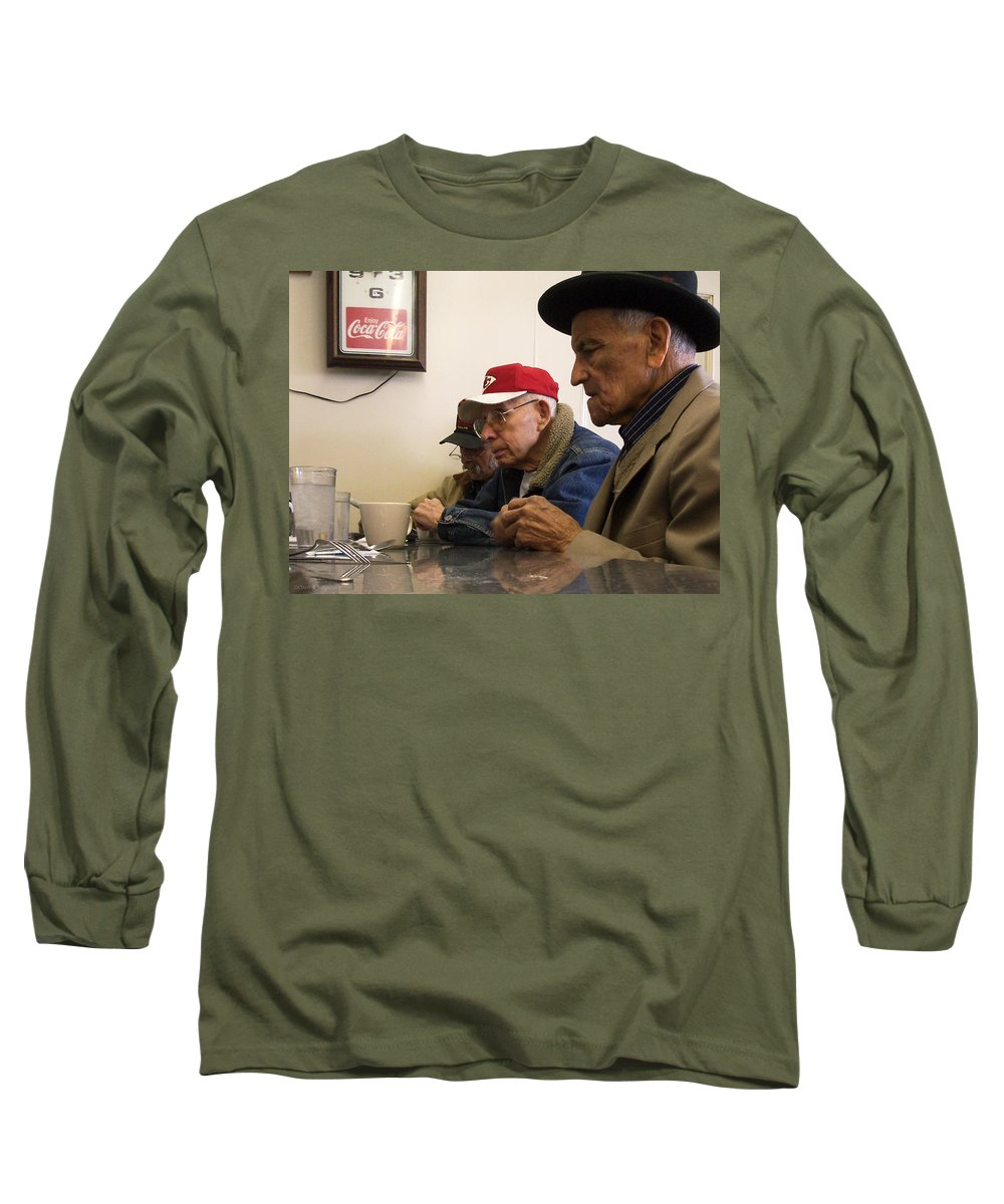 Diner Long Sleeve T-Shirt featuring the photograph Lunch Counter Boys by Tim Nyberg