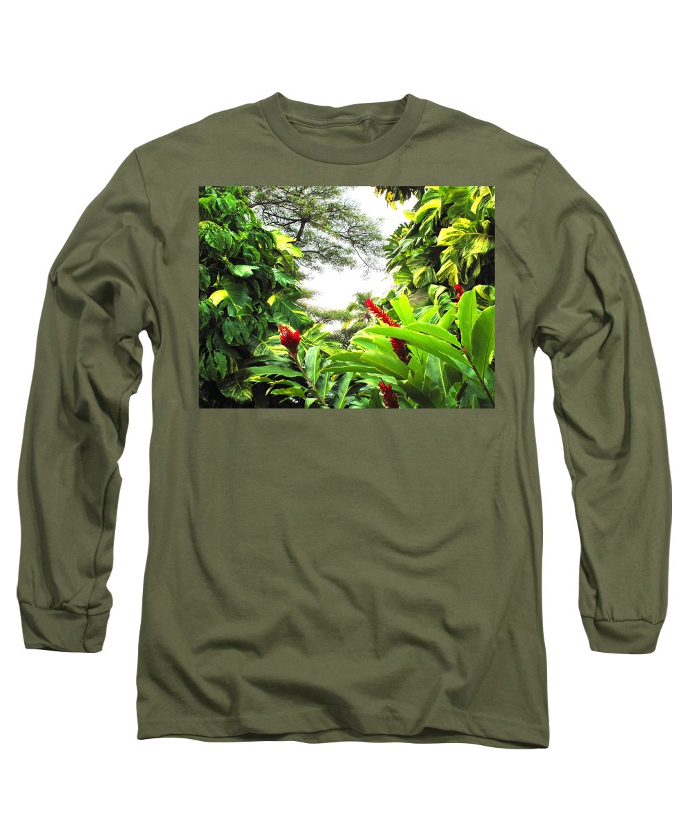 St Kitts Long Sleeve T-Shirt featuring the photograph Lush by Ian MacDonald