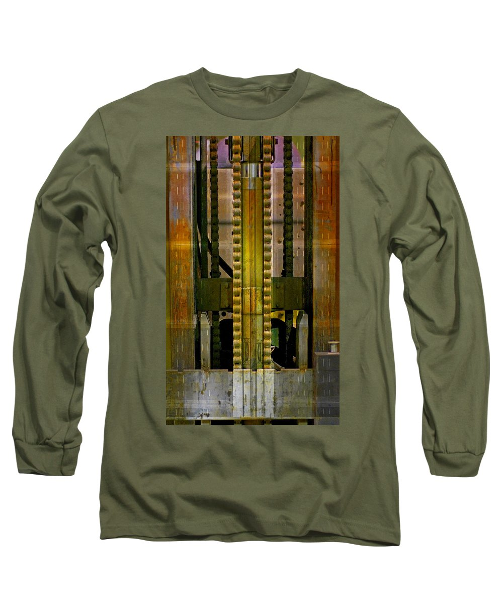 Texture Long Sleeve T-Shirt featuring the photograph Machina by Skip Hunt