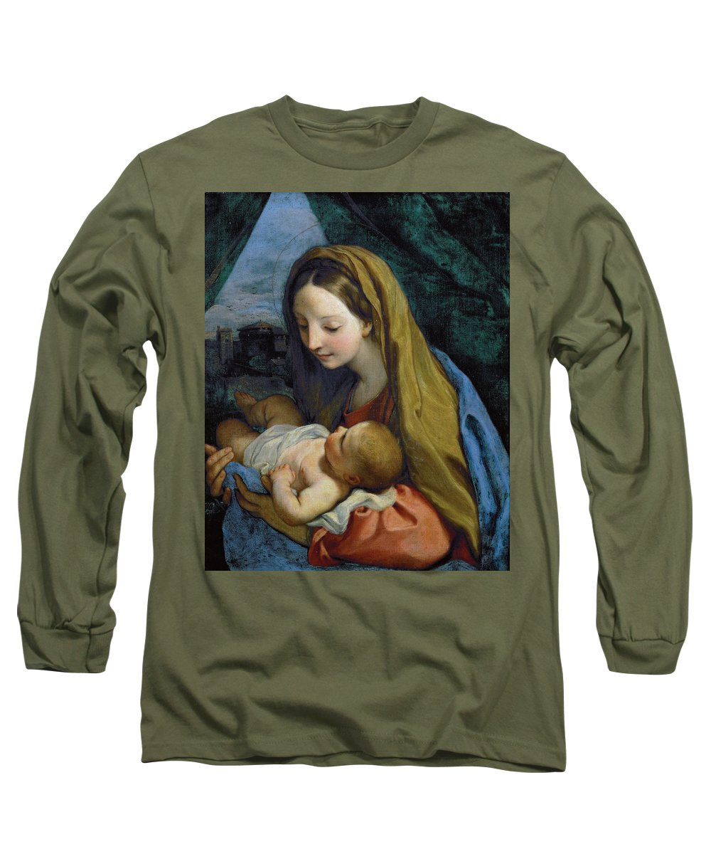 Carlo Maratta Long Sleeve T-Shirt featuring the painting Madonna And Child by Carlo Maratta