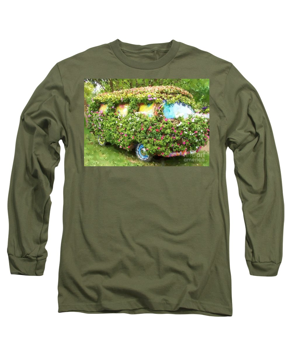Volkswagen Long Sleeve T-Shirt featuring the photograph Magic Bus by Debbi Granruth