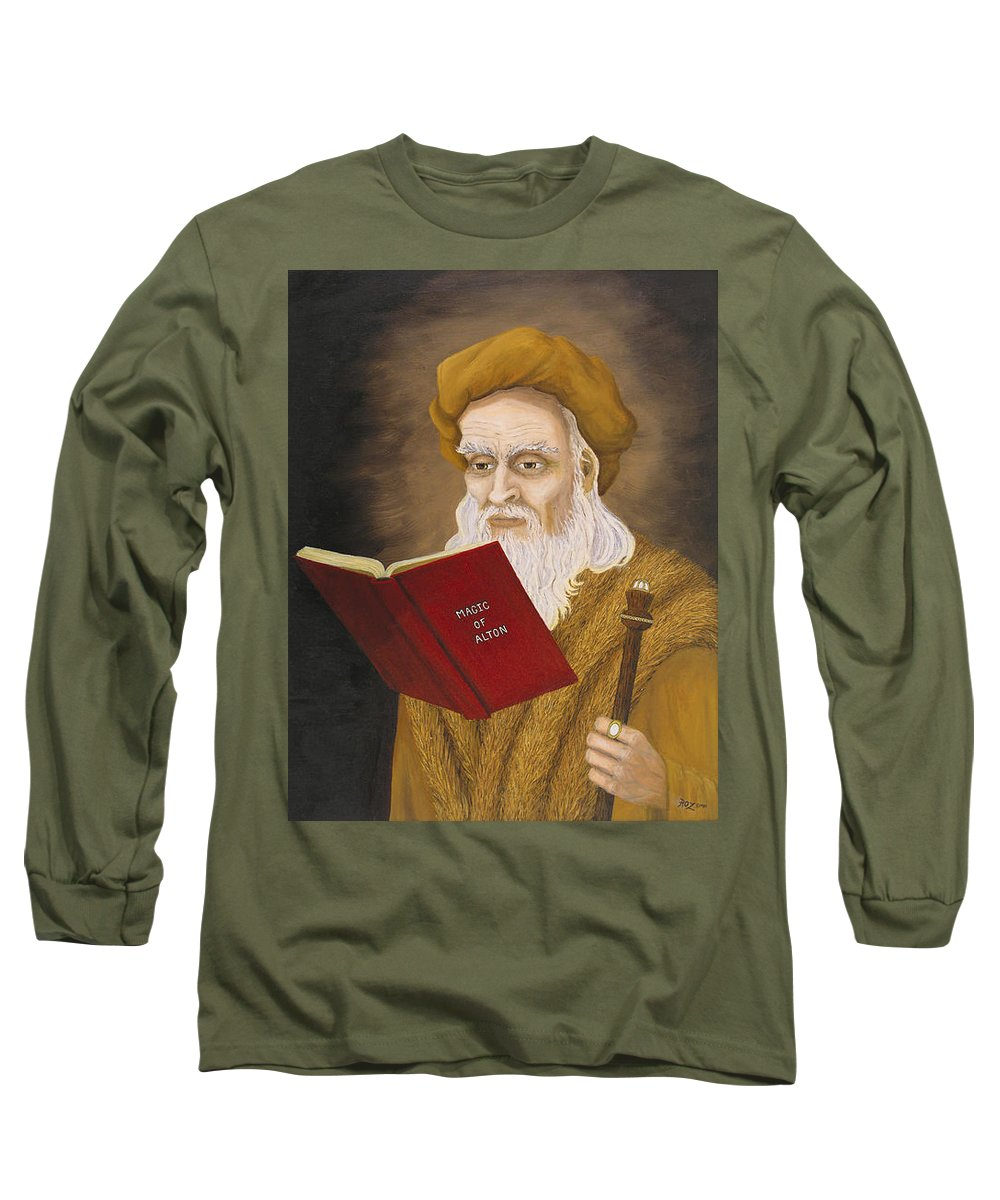 Magic Long Sleeve T-Shirt featuring the painting Magic Of Alton by Roz Eve