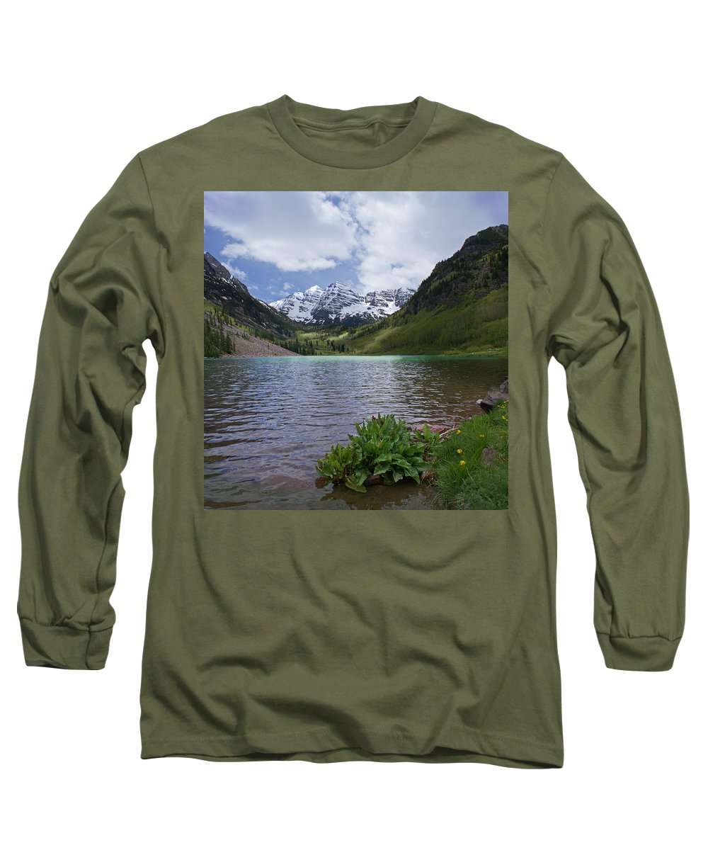 Aspen Long Sleeve T-Shirt featuring the photograph Maroon Bells Spring by Heather Coen