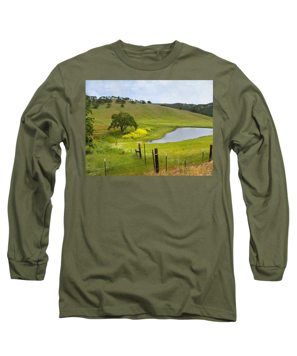 Landscape Long Sleeve T-Shirt featuring the photograph Marsh Creek Road by Karen W Meyer