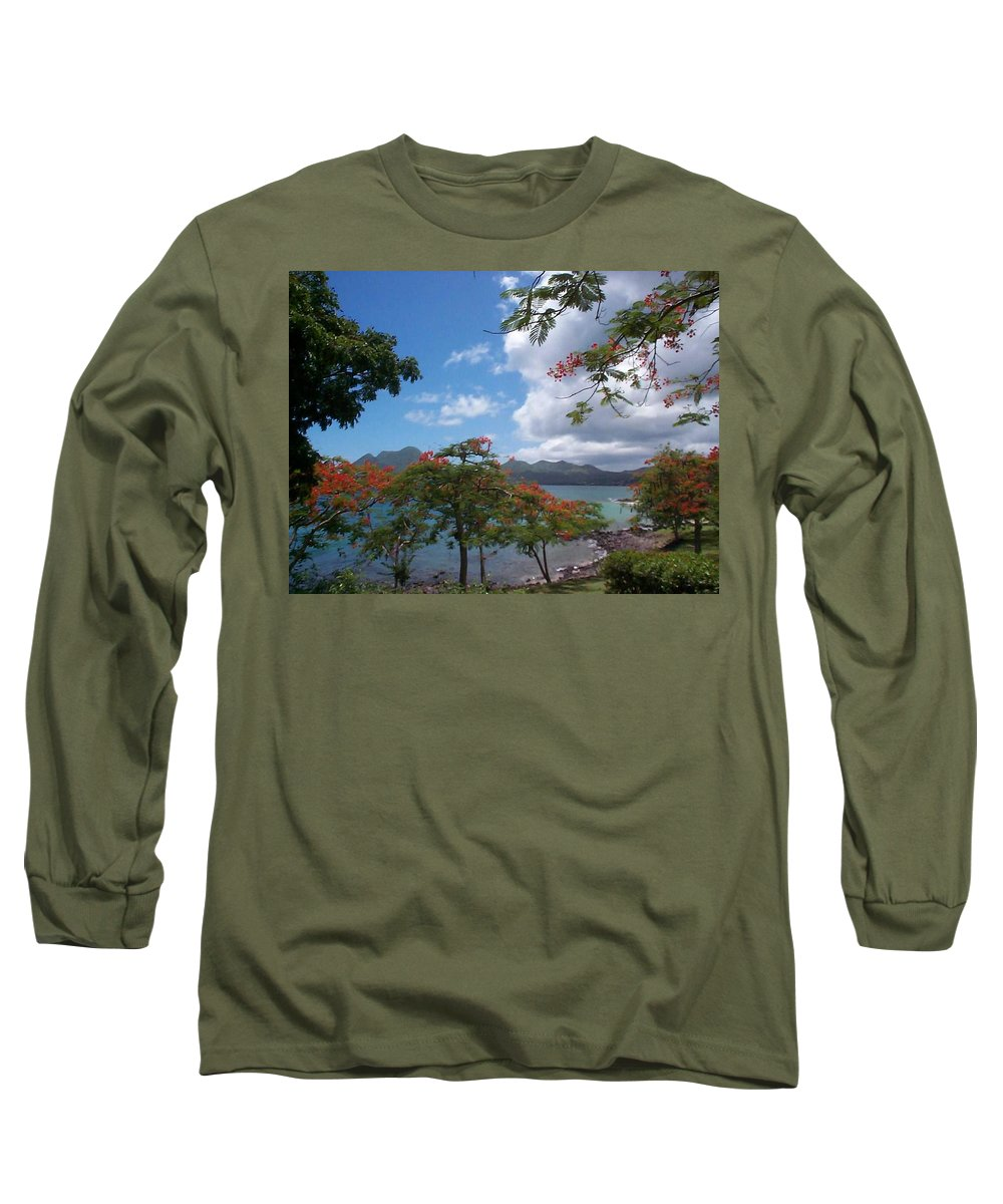 Donation Long Sleeve T-Shirt featuring the photograph Martinique by Mary-Lee Sanders
