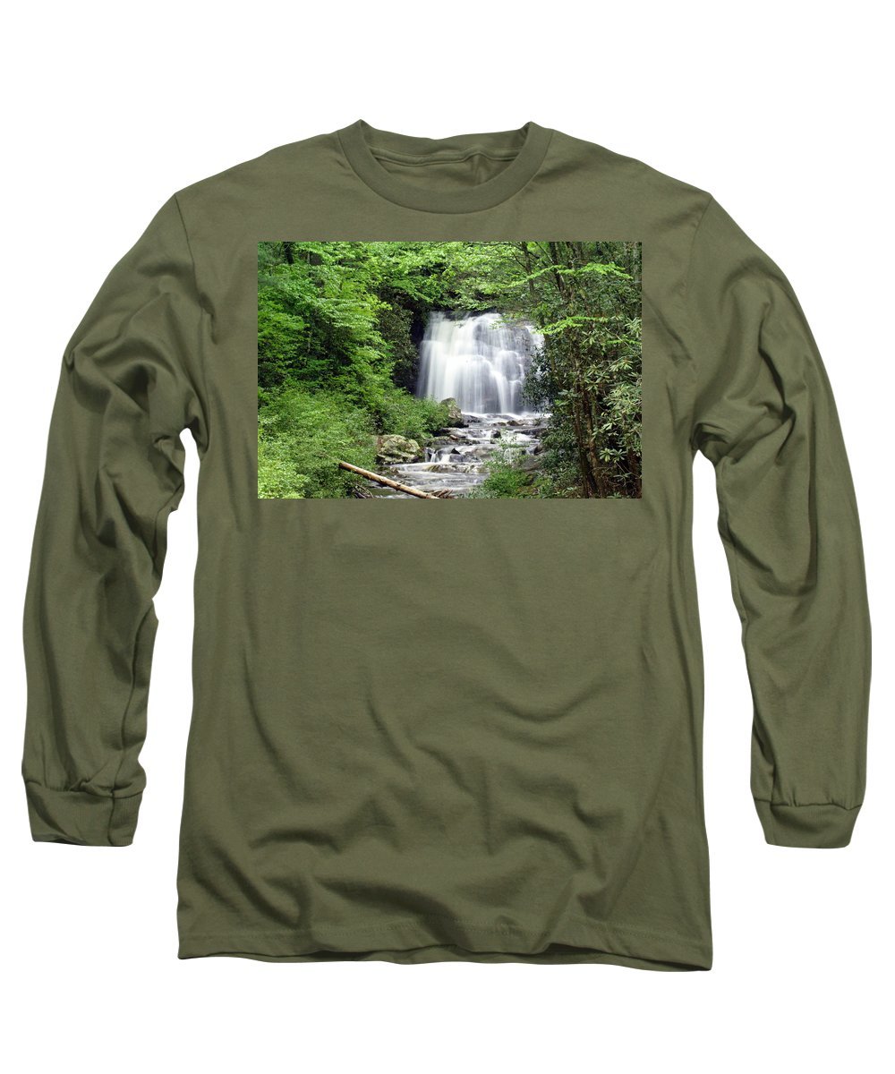Meigs Falls Long Sleeve T-Shirt featuring the photograph Meigs Falls by Marty Koch