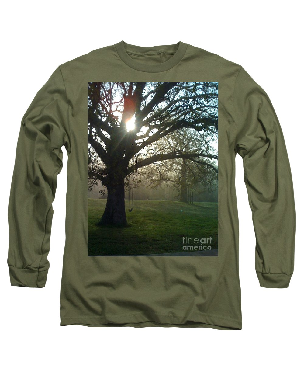 Mist Long Sleeve T-Shirt featuring the photograph Misty Morning by Nadine Rippelmeyer