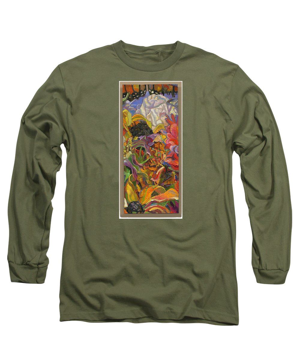 Flowers Long Sleeve T-Shirt featuring the painting Monarch Mountain by Juel Grant