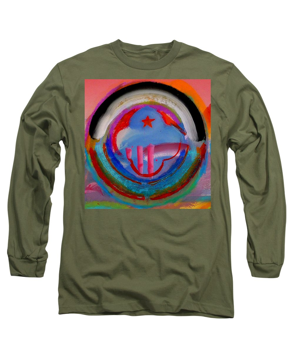 Logo Long Sleeve T-Shirt featuring the painting Morning Light by Charles Stuart