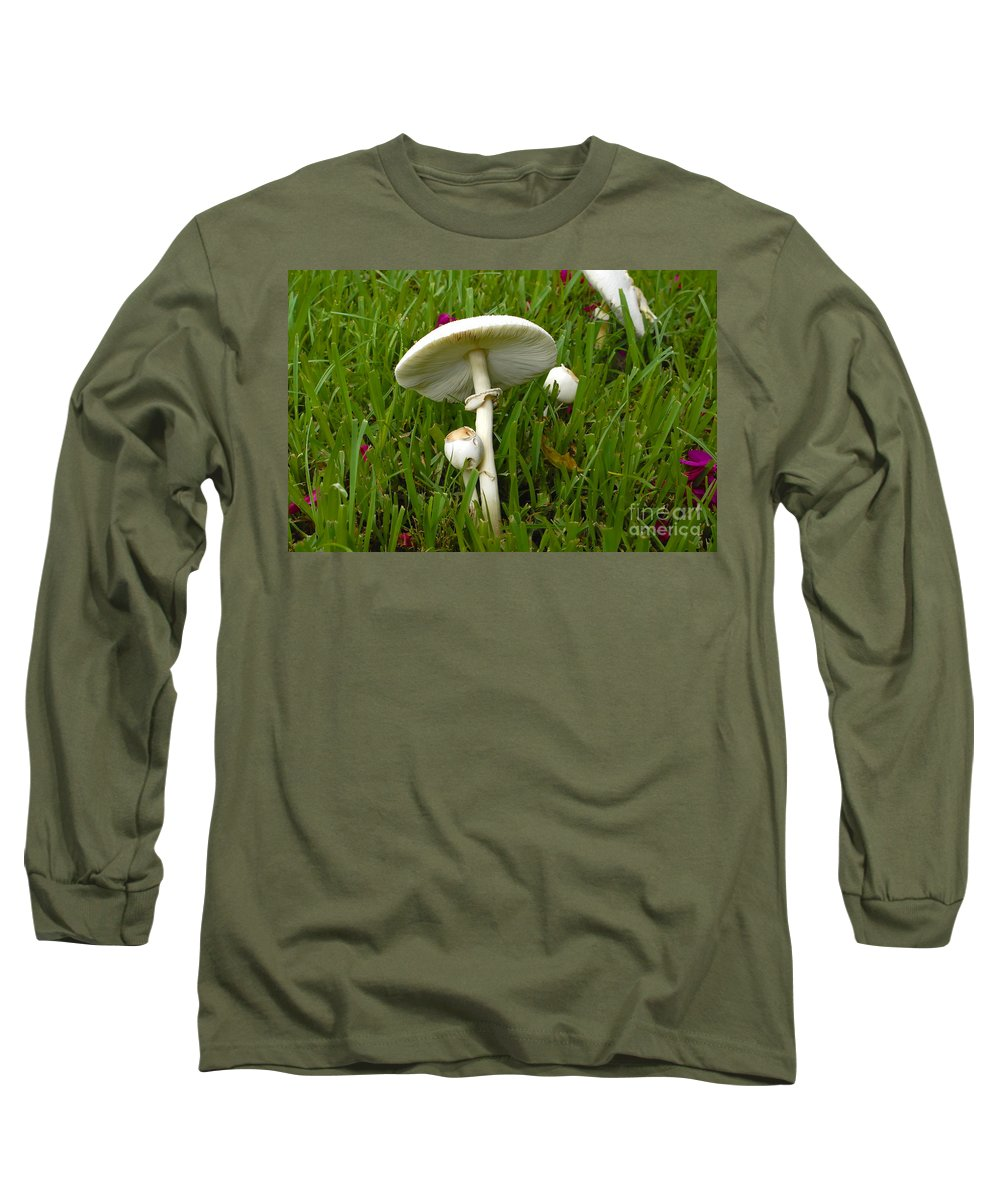 Mushrooms Long Sleeve T-Shirt featuring the photograph Morning Surprise by David Lee Thompson