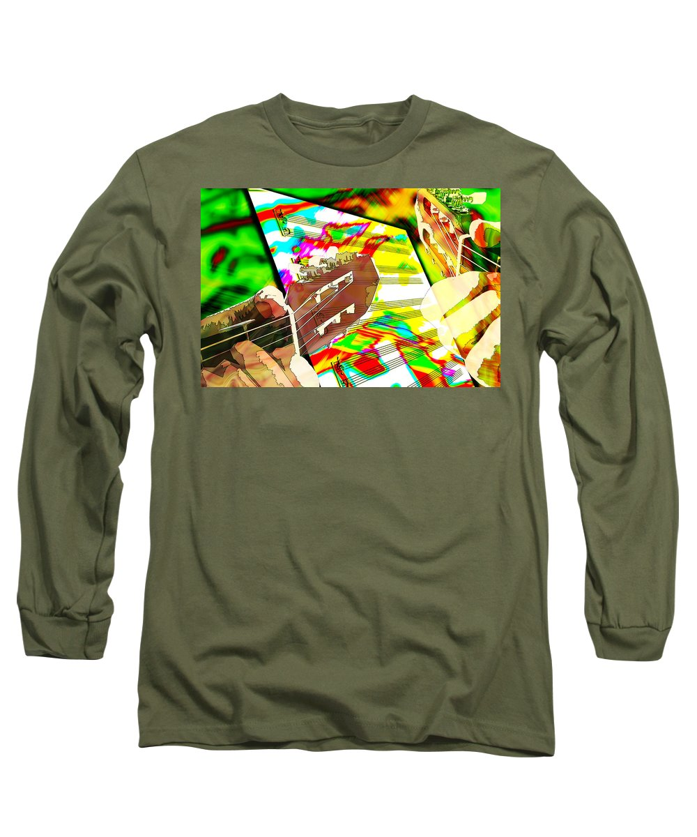 Guitar Long Sleeve T-Shirt featuring the digital art Music Creation by Phill Petrovic