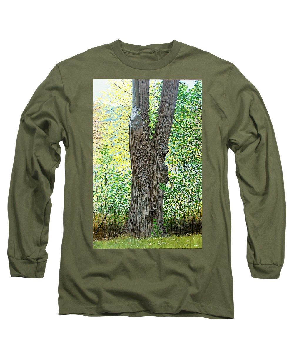 Landscape Long Sleeve T-Shirt featuring the painting Muskoka Maple by Kenneth M Kirsch