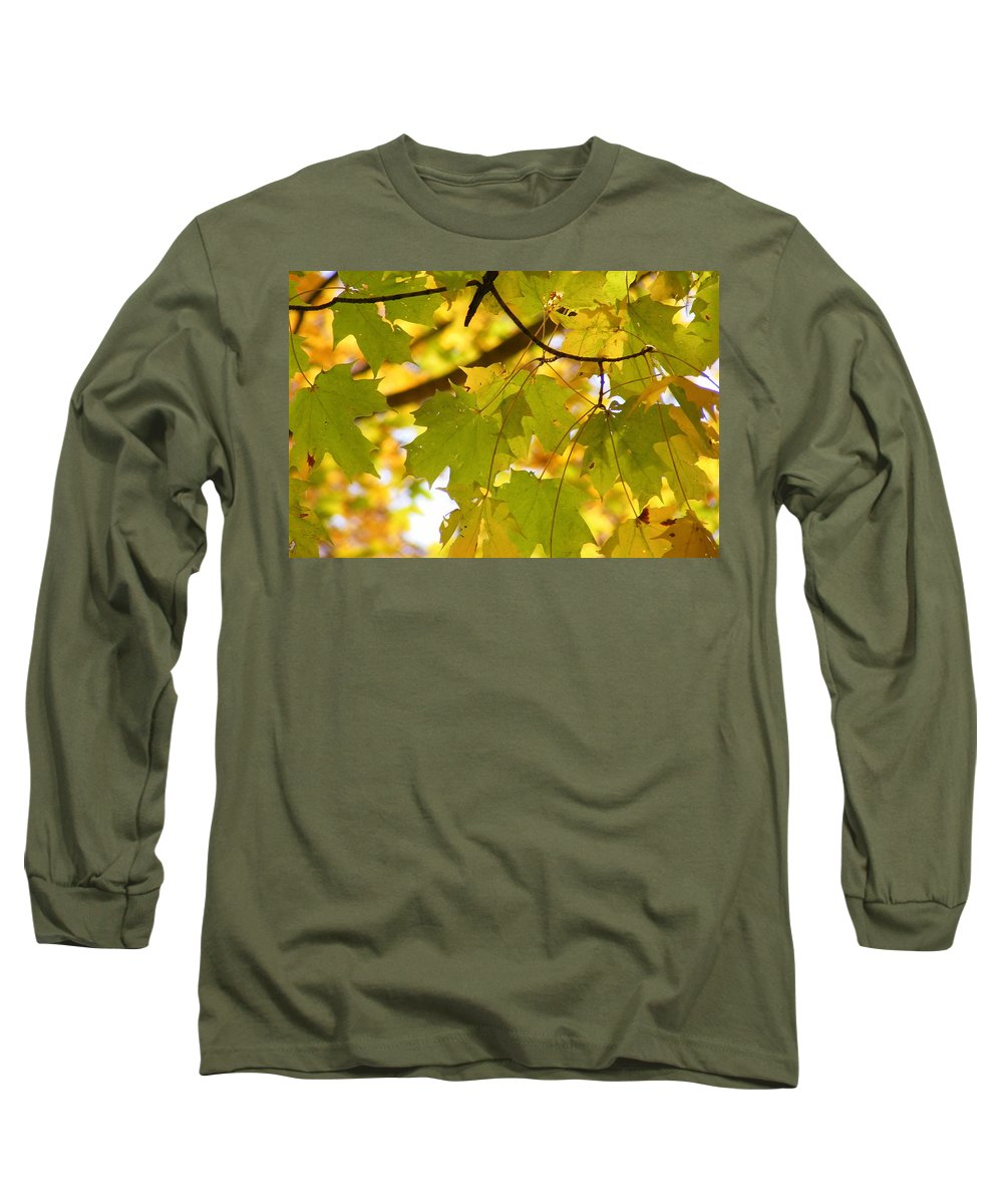 Leaves Long Sleeve T-Shirt featuring the photograph Natures Glow by Ed Smith