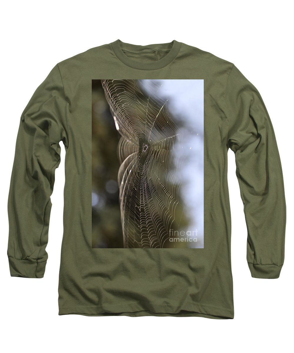 Clay Long Sleeve T-Shirt featuring the photograph Oh What Webs We Weave by Clayton Bruster