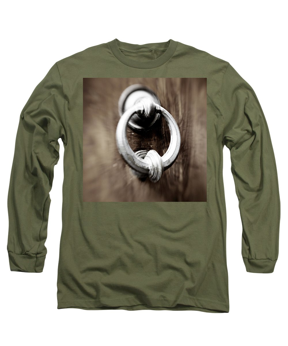 Home Long Sleeve T-Shirt featuring the photograph old Door Knocker by Marilyn Hunt