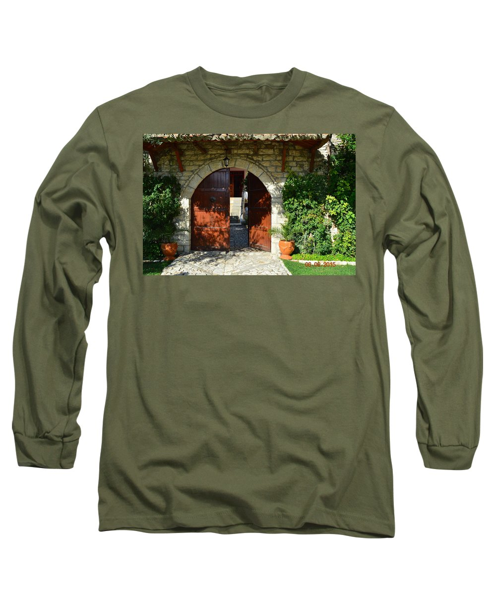 Long Sleeve T-Shirt featuring the photograph Old House Door by Nuri Osmani