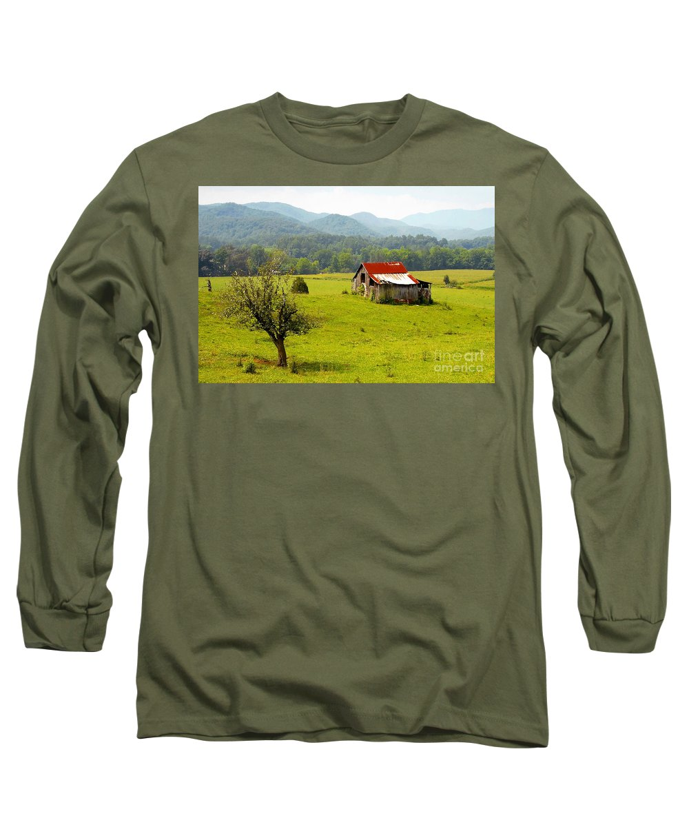 Farm Long Sleeve T-Shirt featuring the photograph Once Upon A Time by David Lee Thompson