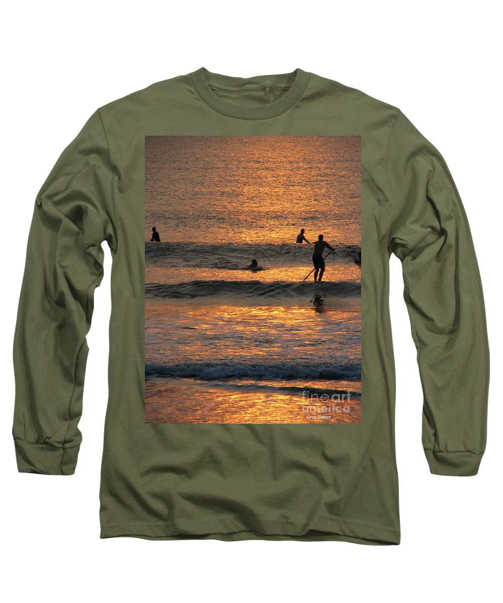 Art For The Wall...patzer Photography Long Sleeve T-Shirt featuring the photograph One With Nature by Greg Patzer