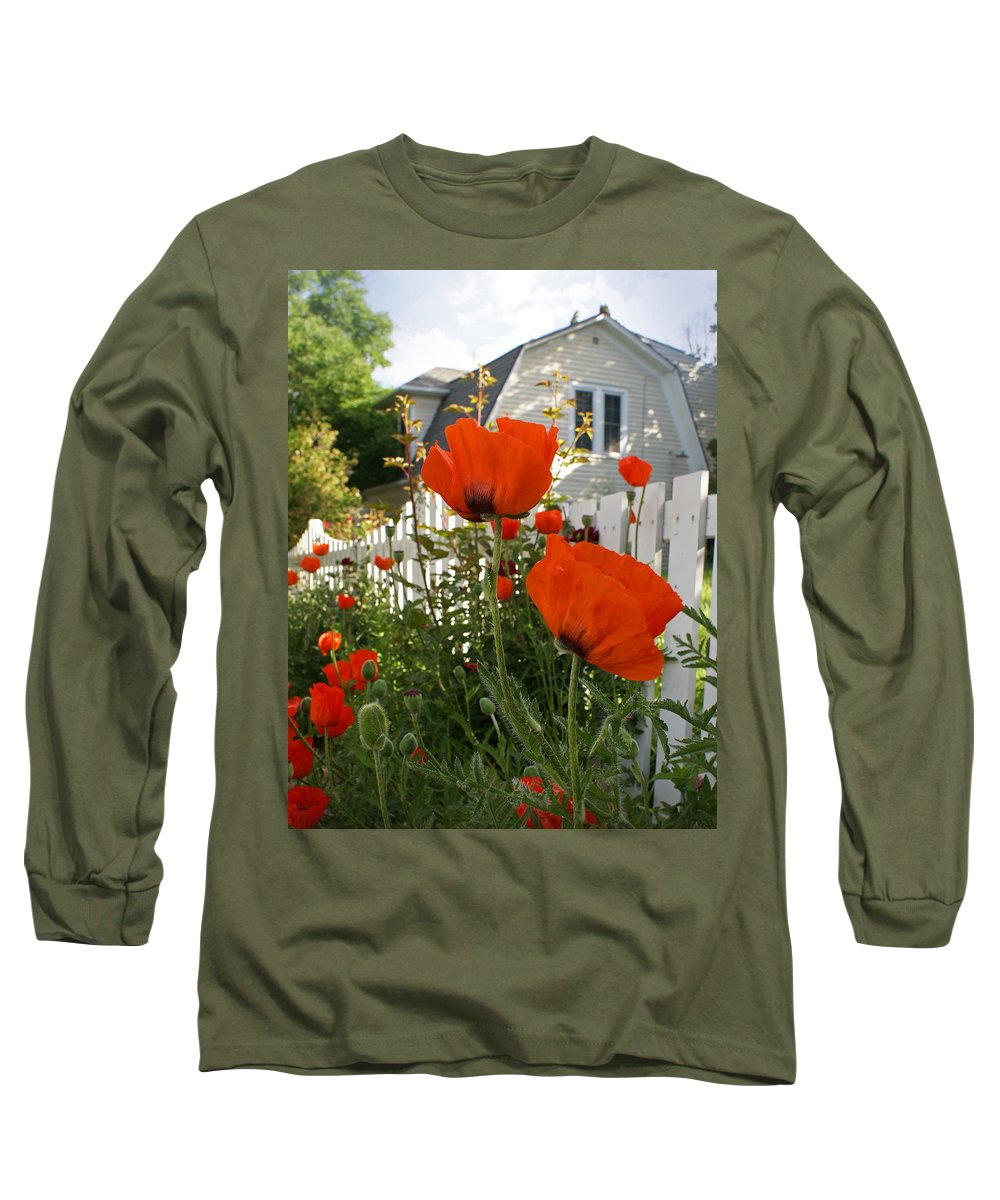 Poppies Long Sleeve T-Shirt featuring the photograph Oriental Poppies by Heather Coen