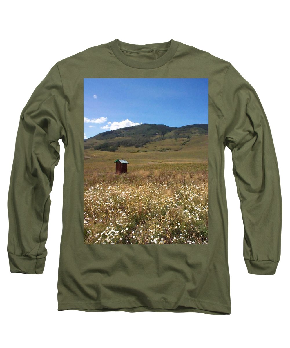 Charity Long Sleeve T-Shirt featuring the photograph Out House by Mary-Lee Sanders