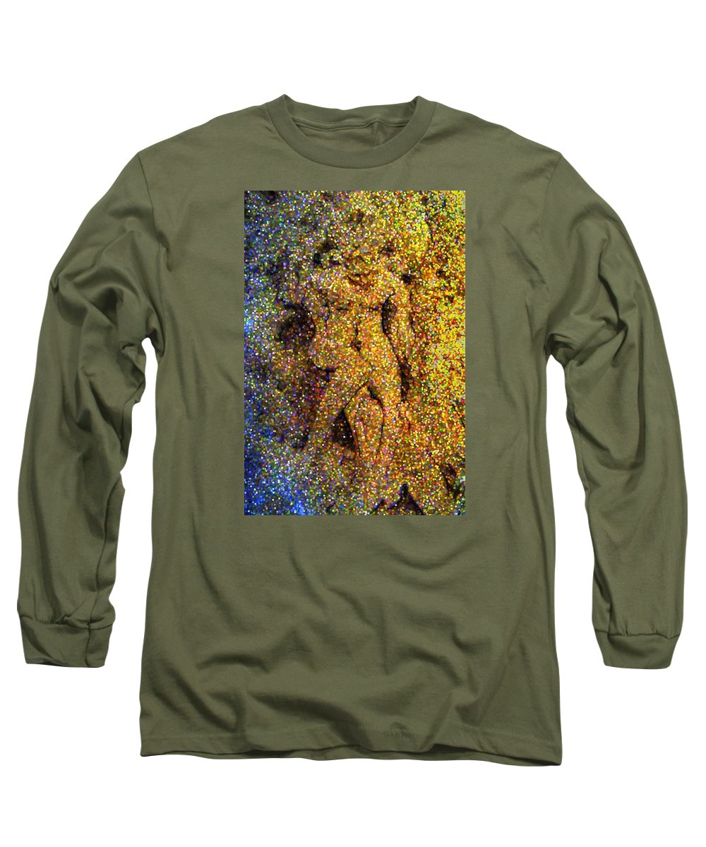 Abstract Long Sleeve T-Shirt featuring the digital art Out Of Eden by Dave Martsolf