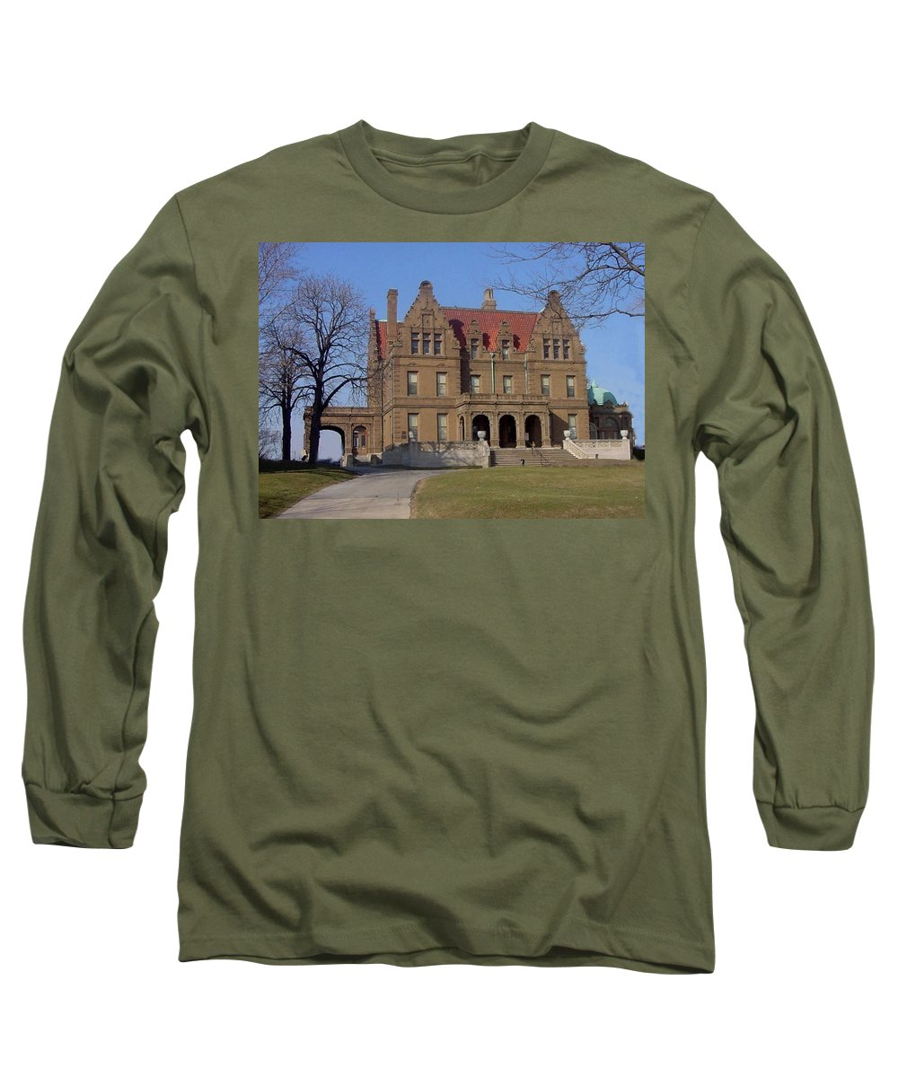 Pabst Mansion Long Sleeve T-Shirt featuring the photograph Pabst Mansion Photo by Anita Burgermeister