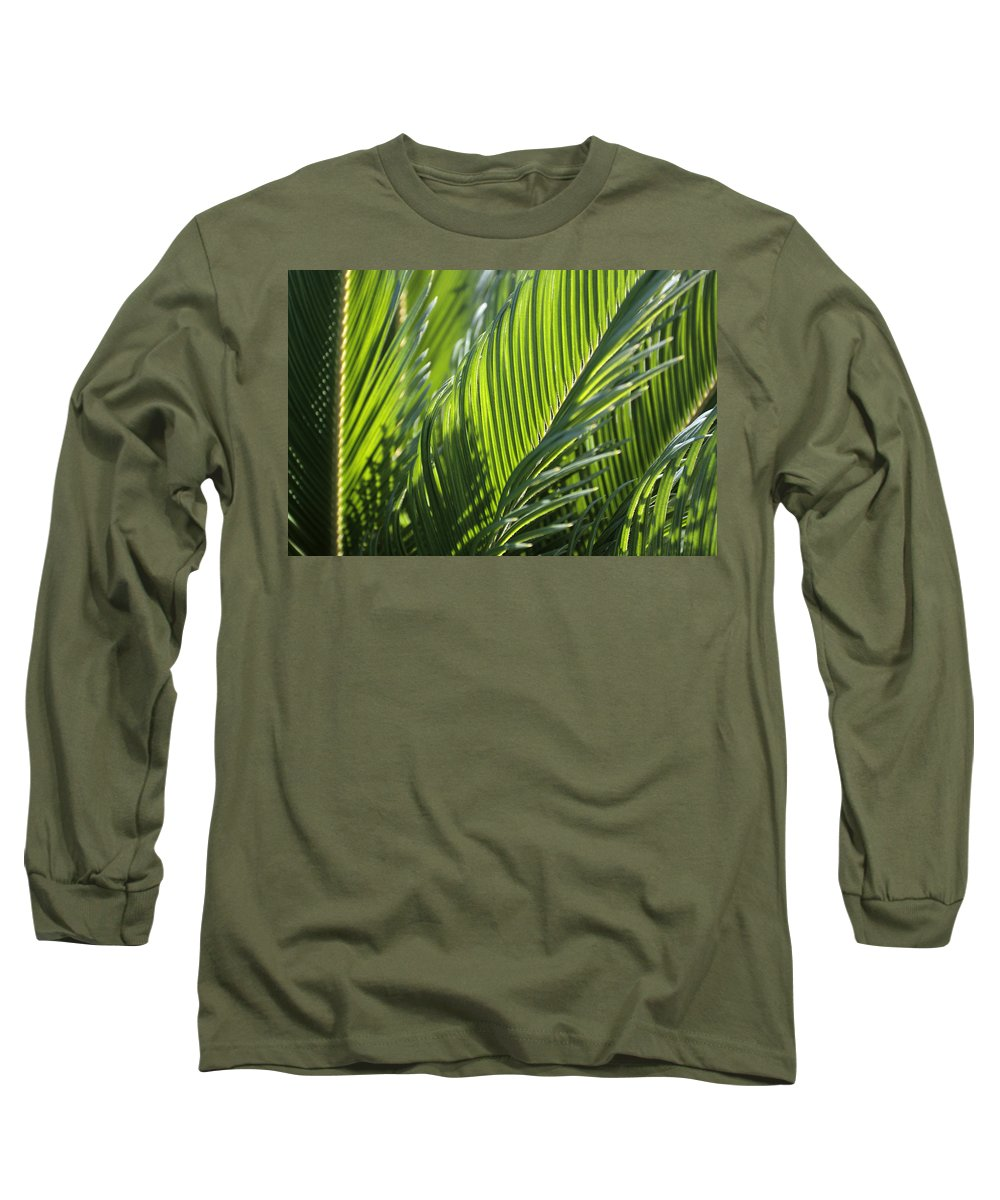 Palm Long Sleeve T-Shirt featuring the photograph Palm Leaf by Phil Crean