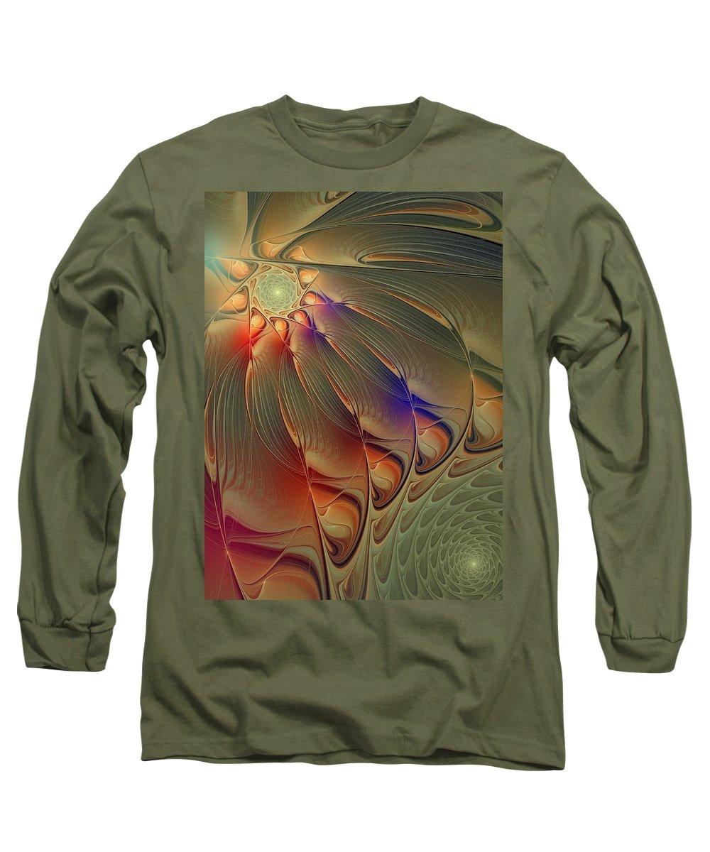 Digital Art Long Sleeve T-Shirt featuring the digital art Petalia by Amanda Moore