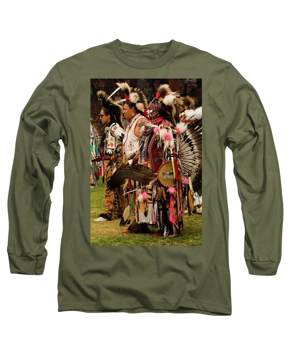 Indian Long Sleeve T-Shirt featuring the photograph Pow Wow Celebration No 5 by David Smith