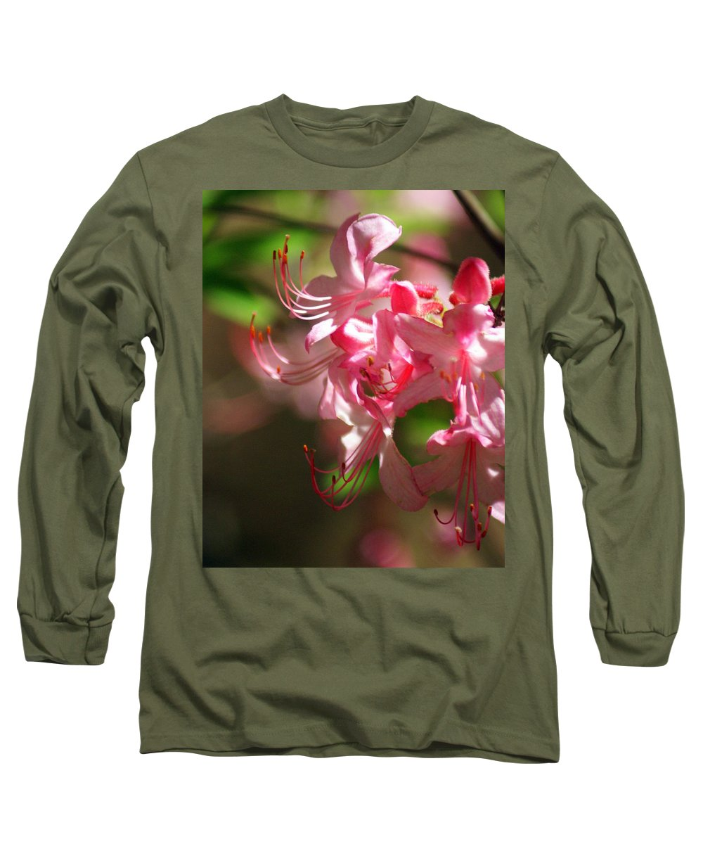 Flowers Long Sleeve T-Shirt featuring the photograph Pretty Pink by Marty Koch
