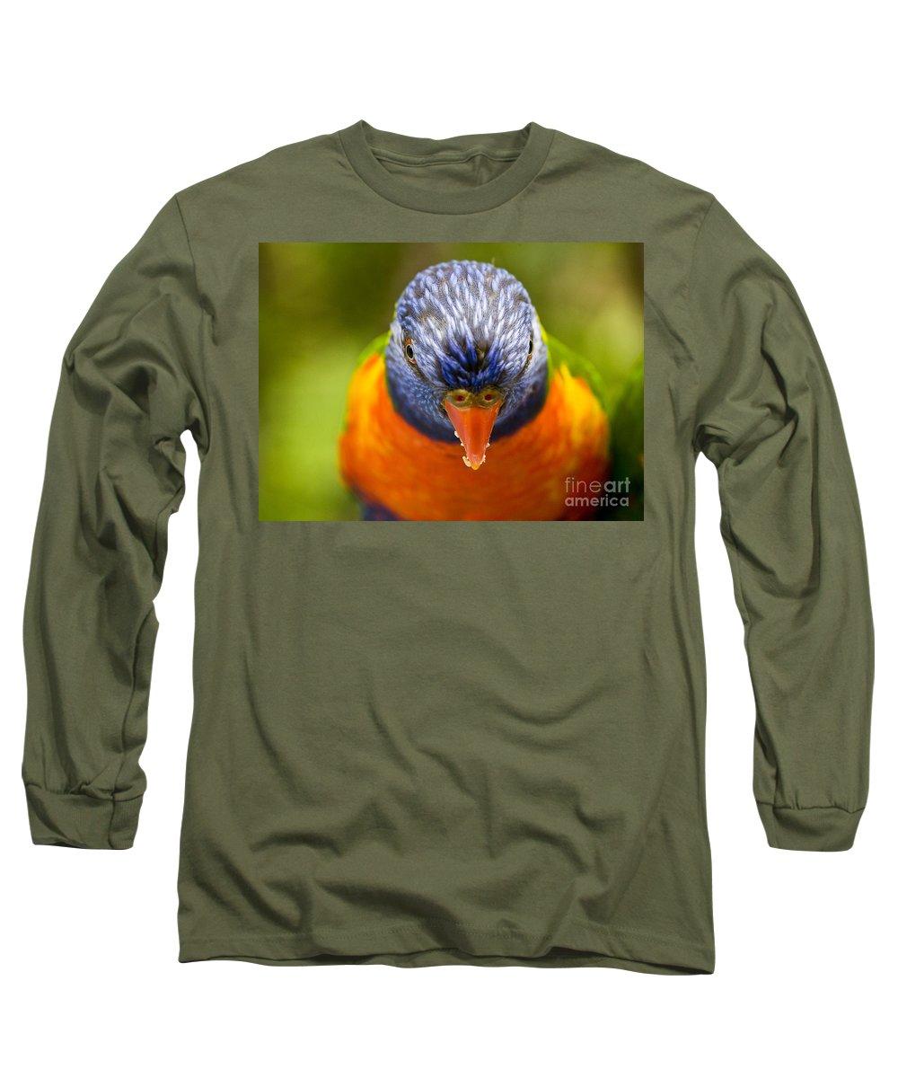 Rainbow Lorikeet Long Sleeve T-Shirt featuring the photograph Rainbow Lorikeet by Sheila Smart Fine Art Photography