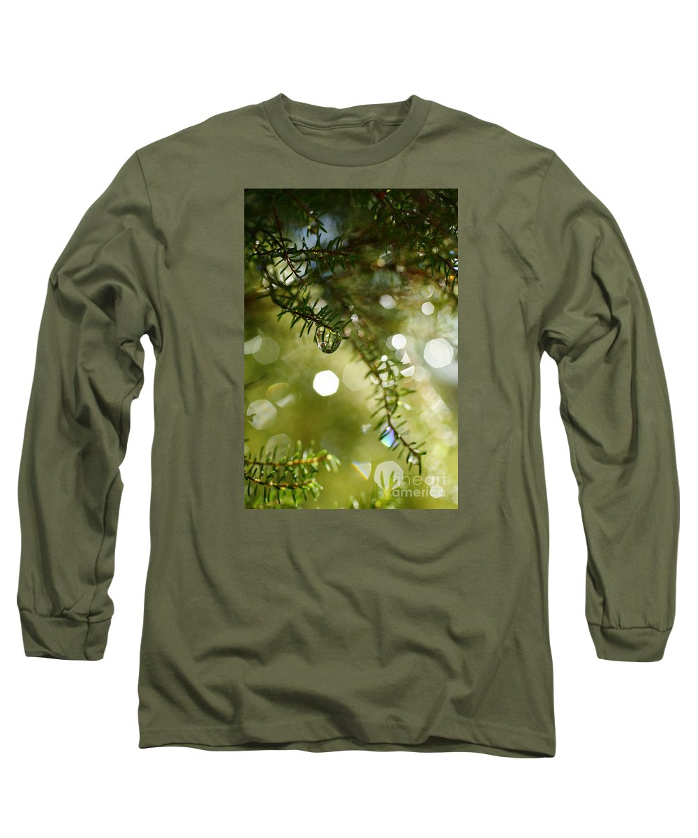 Dew Long Sleeve T-Shirt featuring the photograph Raindrops by Gaspar Avila