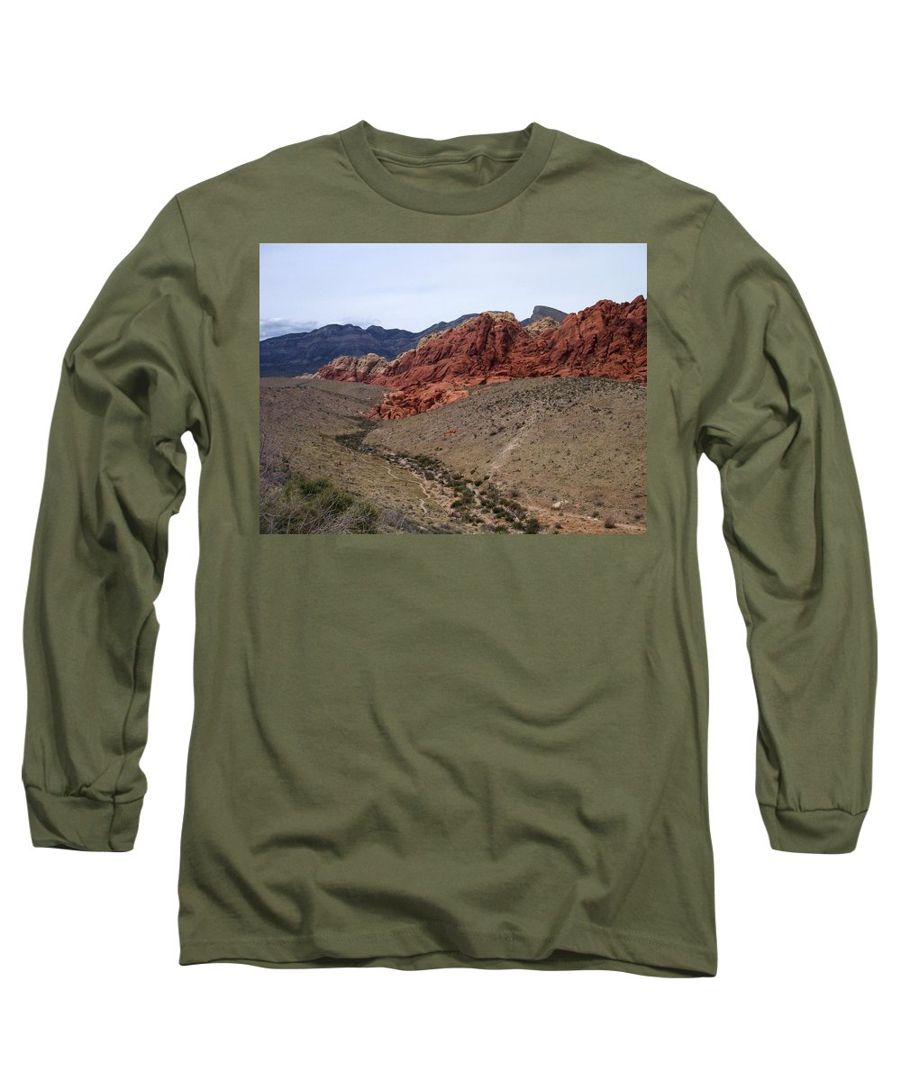 Red Rock Canyon Long Sleeve T-Shirt featuring the photograph Red Rock Canyon 1 by Anita Burgermeister